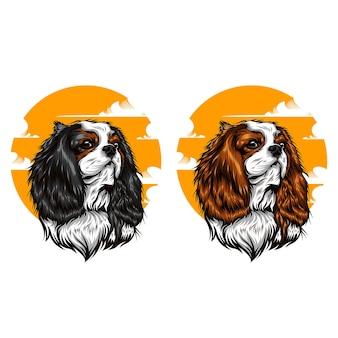 Ilustracja twarz psa