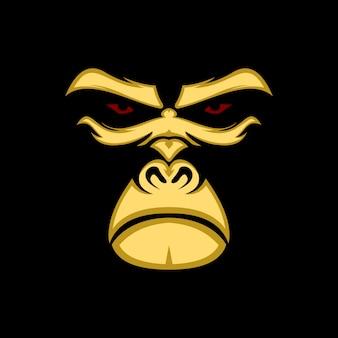 Ilustracja twarzy goryl