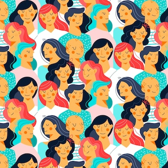 Ilustracja twarzy kobiet