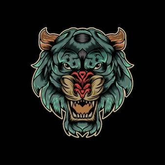 Ilustracja tygrys maskotka