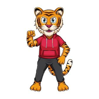 Ilustracja tygrysa dla maskotki