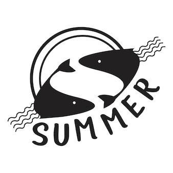 Ilustracja typografia lato i wakacje