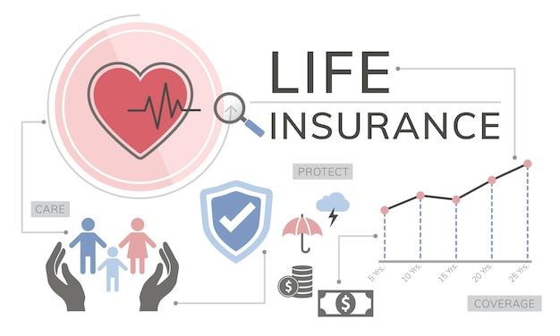 Ilustracja ubezpieczenia na życie