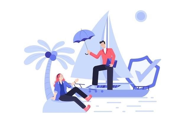 Ilustracja ubezpieczenia podróżnego