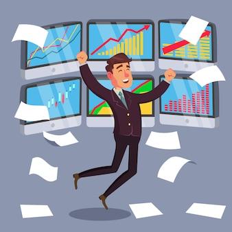 Ilustracja udanego inwestora