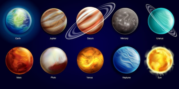 Ilustracja układu słonecznego