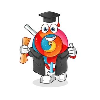 Ilustracja ukończenia szkoły lollipop