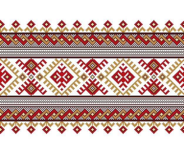 Ilustracja ukraiński ludowy wzór ornament