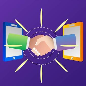Ilustracja umowy partnerskiej