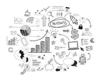 Ilustracja uruchamiania biznesu
