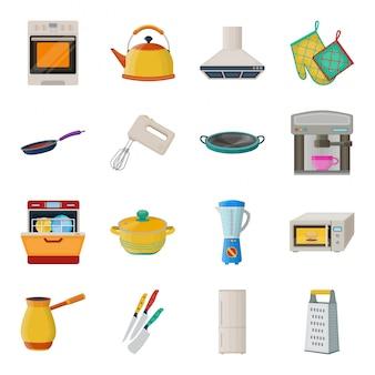 Ilustracja urządzenia kuchenne