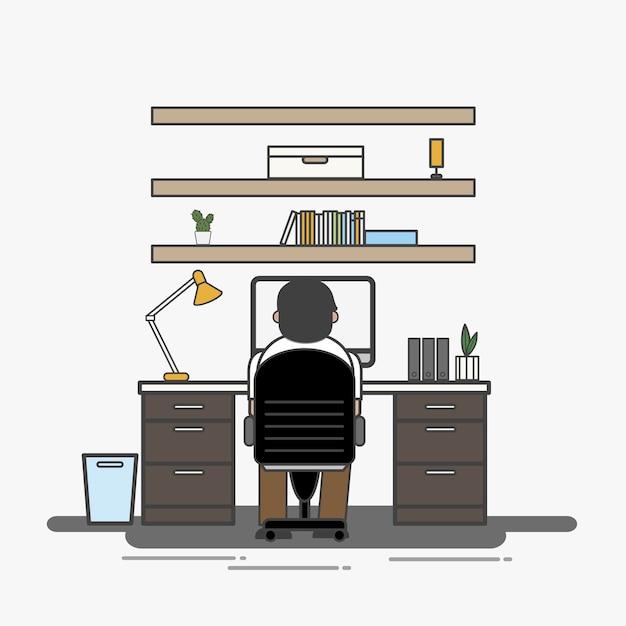 Ilustracja urzędnika avatar