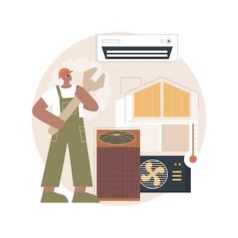 Ilustracja usług klimatyzacyjnych i chłodniczych