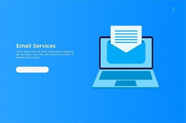 Ilustracja usług pocztowych