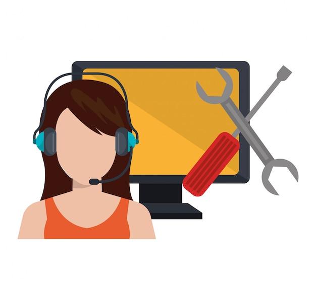 Ilustracja usługi call center