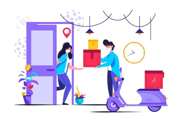 Ilustracja usługi dostawy