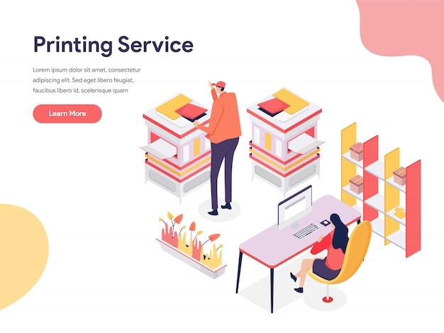 Ilustracja usługi drukowania