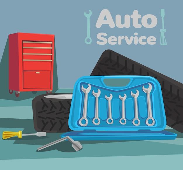 Ilustracja usługi samochodu