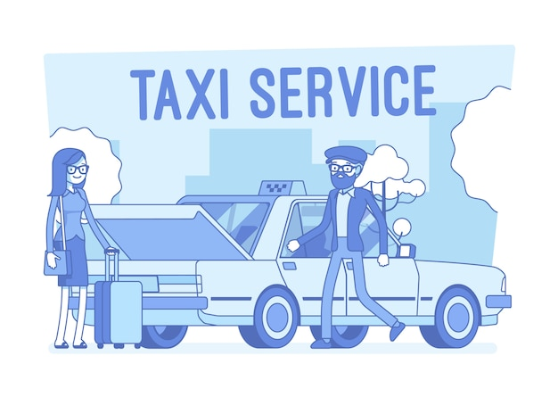 Ilustracja usługi taxi