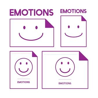 Ilustracja uśmiechnięta emocja