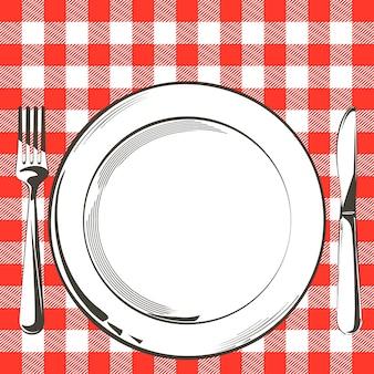 Ilustracja ustawienia dekoracji stołu