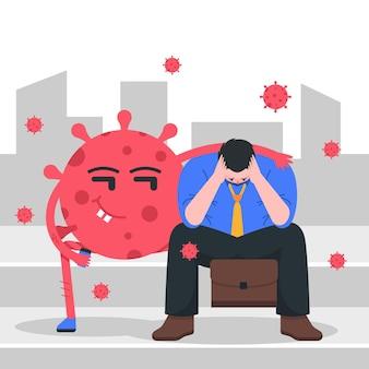 Ilustracja utraty pracy