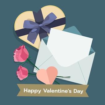 Ilustracja valentines dzień