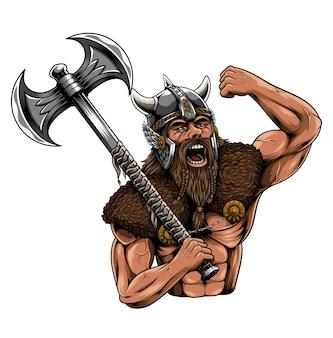 Ilustracja viking norseman