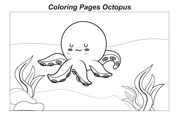Ilustracja w kreskówce kolorowanki dzikie zwierzęta morskie trochę słodkie dziecko delfin pod wodą