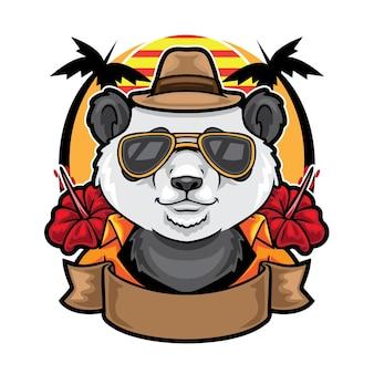 Ilustracja w stylu latem panda