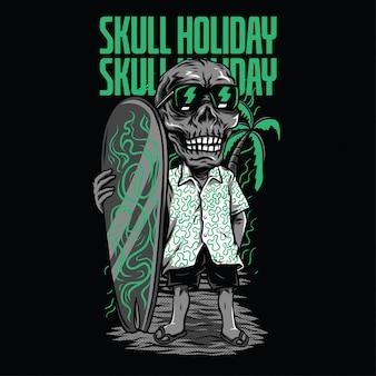 Ilustracja wakacje czaszki