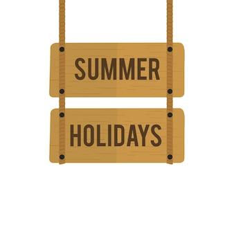 Ilustracja wakacje letni szyldowy wektor