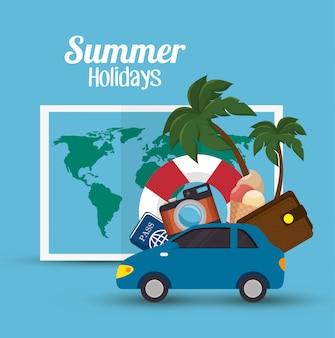Ilustracja wakacje letnie wakacje