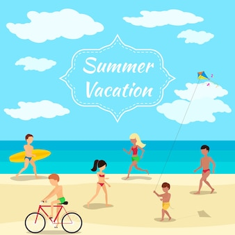Ilustracja wakacje letnie