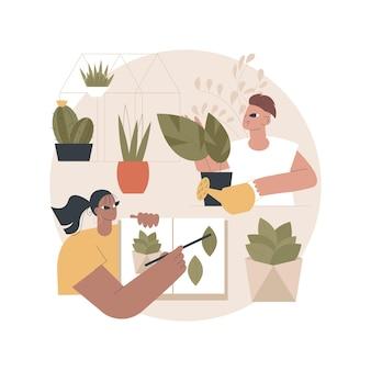 Ilustracja warsztatu ogrodowego