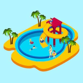 Ilustracja water park