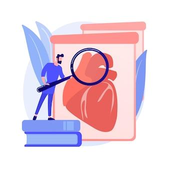 Ilustracja wektorowa abstrakcyjna koncepcja narządów uprawianych w laboratorium. wyhodowane w laboratorium komórki macierzyste, bio-sztuczne organy, sztuczne części ludzkiego ciała, rosnący przeszczep w laboratorium, bioinżynieria abstrakcyjna metafora.