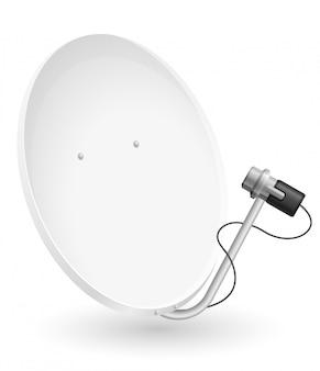 Ilustracja wektorowa anteny satelitarnej