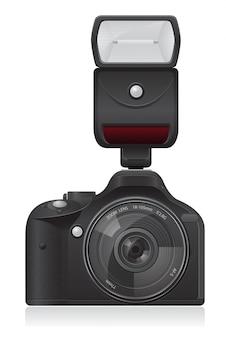 Ilustracja wektorowa aparatu fotograficznego
