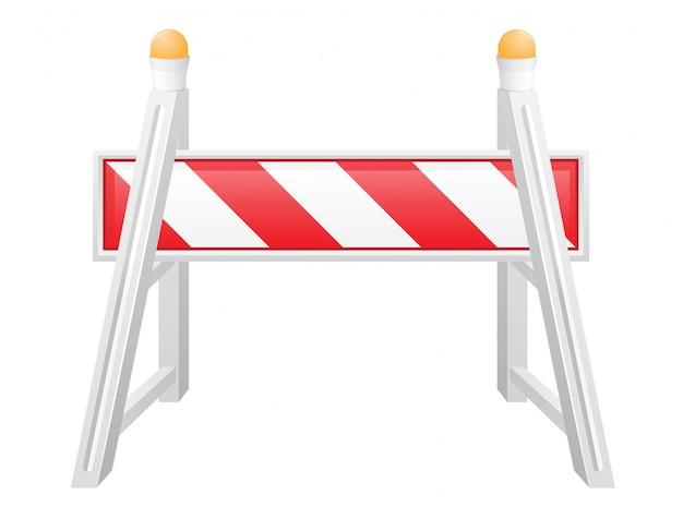 Ilustracja wektorowa bariery drogowe