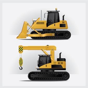 Ilustracja wektorowa budowy pojazdów