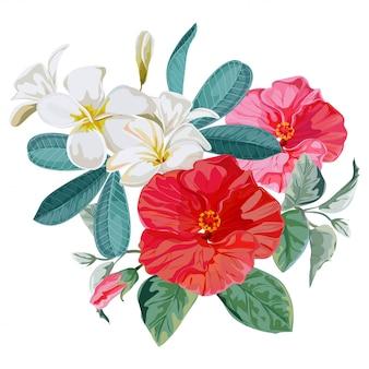 Ilustracja wektorowa bukiet kwiatów