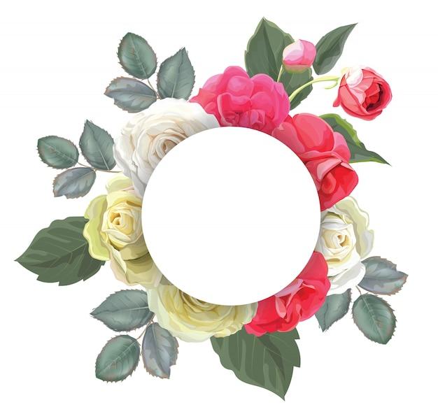 Ilustracja wektorowa bukiet kwiatowy