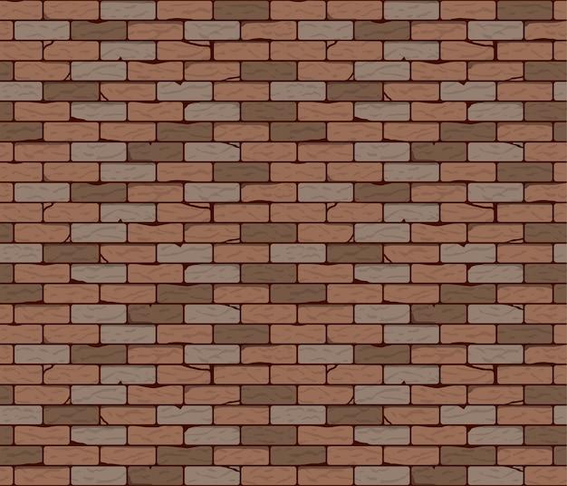 Ilustracja wektorowa ceglanego muru bezszwowe tło lub tekstura