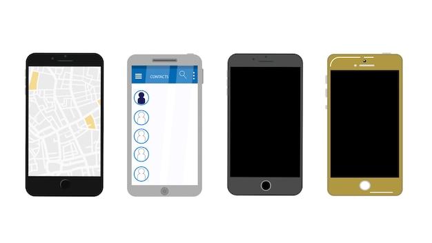 Ilustracja wektorowa cellphone na białym tle