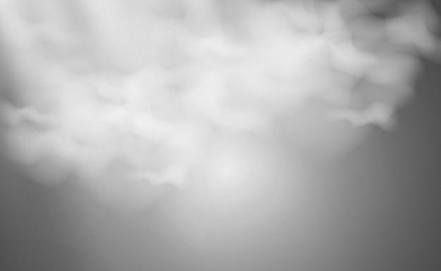 Ilustracja wektorowa chmur na przezroczystym tlerealistyczne chmury deszczowe
