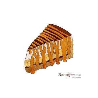 Ilustracja wektorowa ciasto banoffee