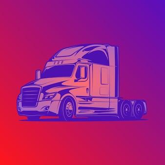 Ilustracja wektorowa ciężarówki