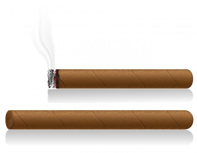 Ilustracja wektorowa cygara