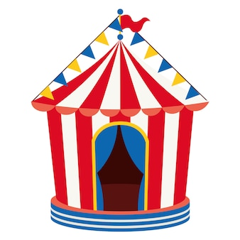 Ilustracja wektorowa cyrku